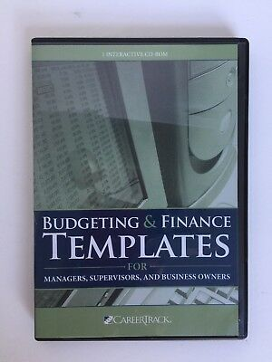 Budgeting & Finance Templates for Managers, Supervisors, Business Owners CD ROM