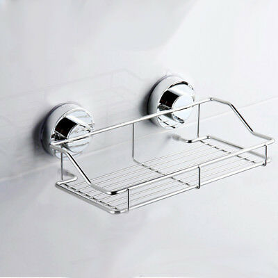 Suction Cup Adhesive Wall Mounted Bathroom shelf Households Rack H3Y5