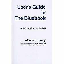 B006TEHXJ2 Users Guide to the Bluebook 19th (nineteenth) edition