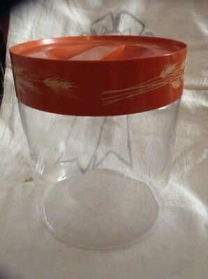Vintage Pyrex Autumn Wheat See N Store Glass Canister Container Corelle Corning
