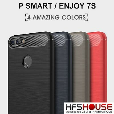 Para Huawei P Smart Funda Carcasa Gel Tpu Carbon Cover Case