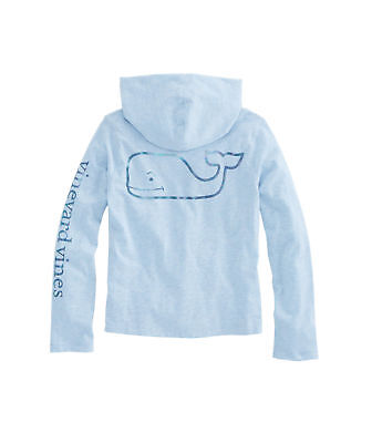NWT Girl's Vineyard Vines Whale Hoodie T-Shirt M, L, Or XL & VV Cloth Gift Bag