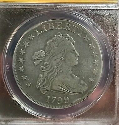 CHEAPEST ON EBAY $$ 1799 Draped Bust Silver Dollar ANACS VF 30 details FREE COIN