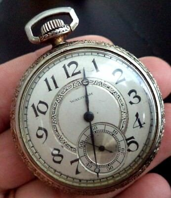 "Stunning Antique Estate Waltham Wind Up 2 1/8"" Pocket Watch!!! G6747G"