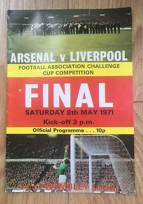 1971 FA Cup Final Football Programme. Arsenal v Liverpool