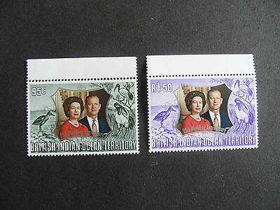 British Indian Territory 1972 Sg 45-46 Royal Silver Wedding Mnh