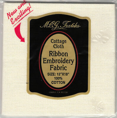 Cottage Cloth, Ribbon Embroidery Fabric, 30 count WHEAT, 100% Cotton Made in USA