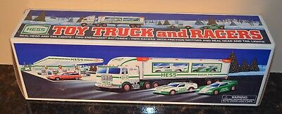 1997 HESS Toy Truck and Racers w/Original Sales Bag - New In Box