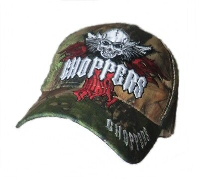 Baseball Cap CHOPPERS Camouflage  Western Country Cowboy  Biker Caps