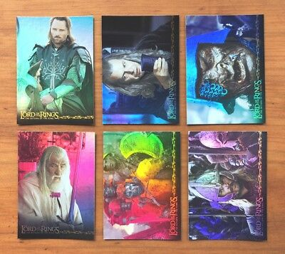 2003 Topps Lord of the Rings: The Return of the King - 6 Prismatic Foil Cards