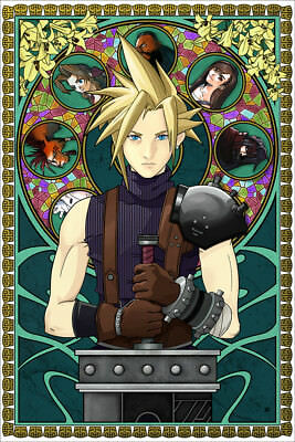 Cloud Strife Final Fantasy VII 12x18 Art Print by Robert Mitchell