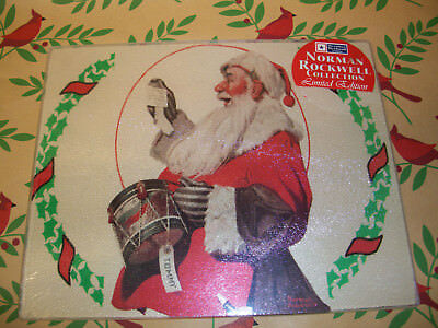 """Norman Rockwell A Drum for Tommy Tempered Glass 9.75""""Lx7.75""""H Serving Board NEW"""