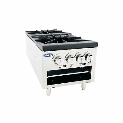 Atosa Commercial Lower Floor Model Double Burner Gas Stock Pot Stove Atsp-18-2L