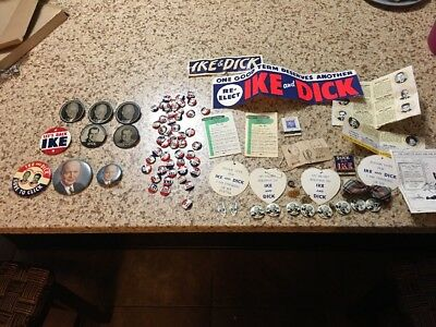 IKE And Dick Lots Stuff Over 80 Pieces