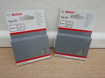 2 X Packs Of 1000 X Bosch Type 53  6Mm Tacker Staples 1 609 200 326