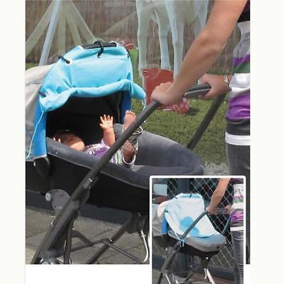 Kid's Stroller Sunshield Ventilated Sun Protection Cover Rolling Curtain Cloth