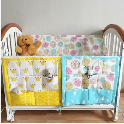 Baby Cot Bed Hanging Bag Crib Organizer Toy Diaper Pocket Bed Bumper New Arrival