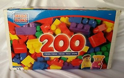 Huge! Mega Bloks Classic First Builder - Over 200 Brightly Coloured Pieces #8225