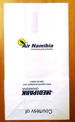 Air Namibia - carrying the spirit of Namibia - very good condition! Air sickness