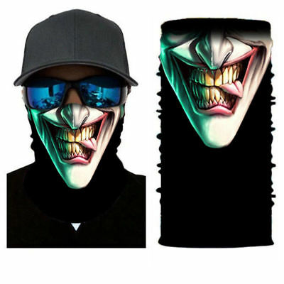US Joker Skull Motorcycle Cycling Neck Scarf Half Face Mask Bandana Ski Headband