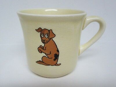 Vintage Mount Clemens Pottery Child's Cup/Mug~Puppy Dog & Chick