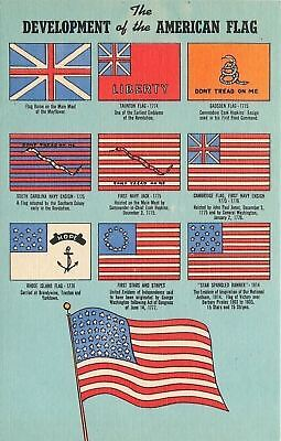 Patriotic~Development of the American Flag~10 Different~Liberty~Don't Tread~1945