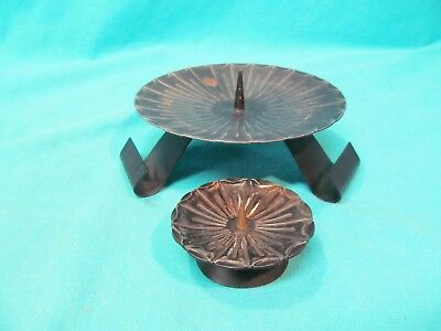 Lot Of 2 Metal Spike West Germany Candle Holders