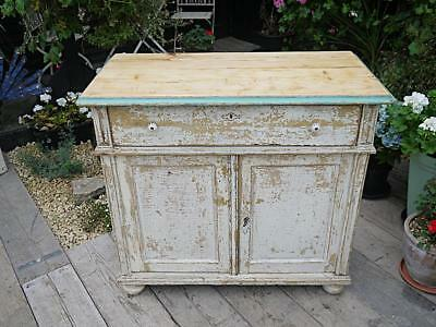 Lovely Pine & Painted (Old Paint) Dresser Base/sideboard/cupboard Shabby Chic