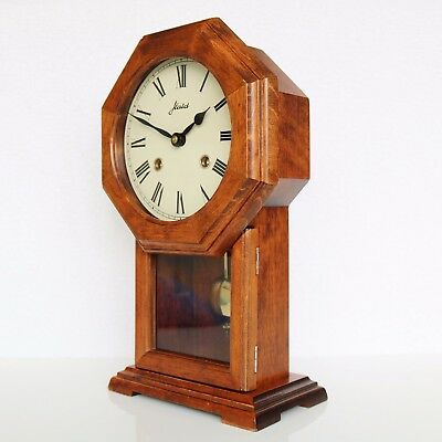 HAID Mantel Clock VINTAGE RARE ICONIC MODEL Double BELL Chime German Mid Century
