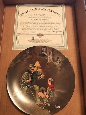 Norman Rockwell Heritage Collection Plate The Old Scout