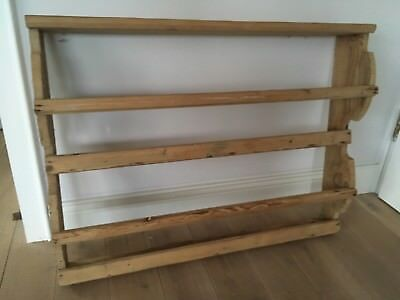 antik Regal massiv Holz altes Tellerboard Wandregal Shabby Frankreich ? Küche