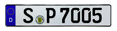 Porsche Stuttgart Front German License Plate