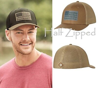 Columbia Baseball Hat Mesh Flexfit Ball Cap 183710 Tree Forest Fitted