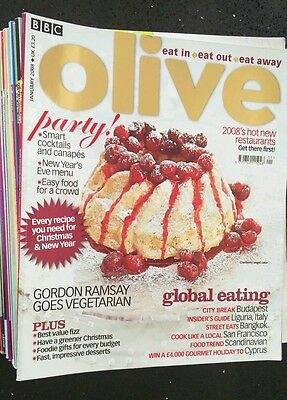 18 BBC Olive Food Magazines Jan '08 - July '09