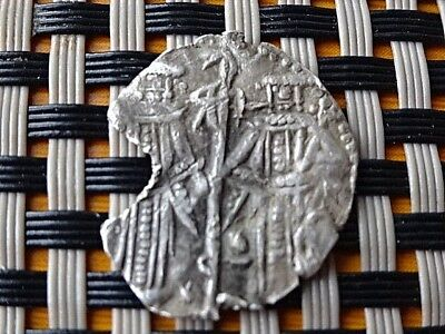 Authentic Medieval Silver Grosh Of Ivan Alexander & Michael Asen Iv 1331-1355 Ad