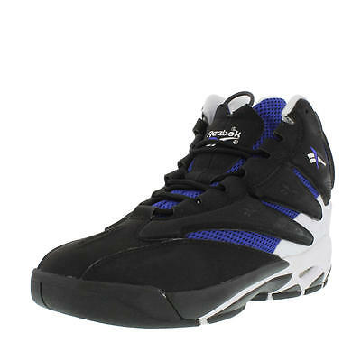 6ab3dbebcf7 REEBOK M41942 THE BLAST Mn s (M) Black Blue White Leather Basketball Shoes