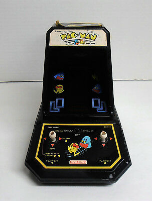 Vintage 1980's Coleco Pac-Man Mini Table Top Arcade Game Works