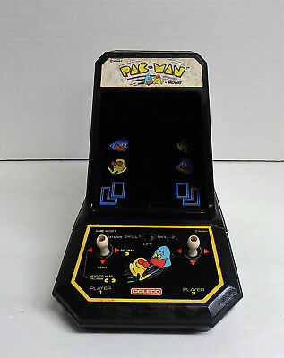 Vintage 1980's Coleco Pac-Man Mini Table Top Arcade Game