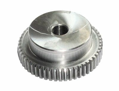 80 Teeth, Module 1, Gear Helical Gear Steel C45 Milled, Drilling Ø10