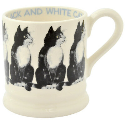 EMMA BRIDGEWATER POTTERY NEW HALF PINT MUG - Black & White Cat