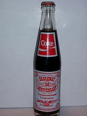 10 Oz Coca Cola Commemorative Bottle - 1986 Brockway Pa. Sesquicentennial