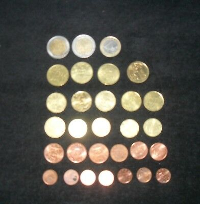 European Euro 30 Coins Mixed Country Lot $8.88 Face Value