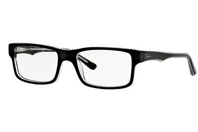 Ray-Ban RX5245 2034 52mm Top Black On Transparent Eyeglasses