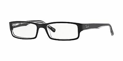Ray-Ban RX5246 2034 52mm Top Black On Transparent Eyeglasses