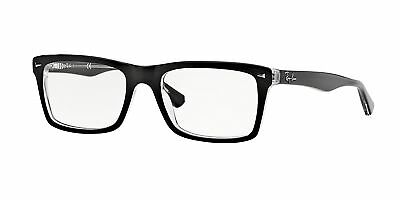 Ray-Ban RX5287 2034 52mm Top Black On Transparent Eyeglasses