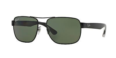 cd33c8a3112 Ray-Ban RB3530 002 9A 58mm Black Frame Polar Green Lens Polarized Sunglasses
