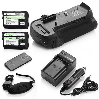 MB-D12 Grip For Nikon D800 D810 D800E+ 2x EN-EL15 Battery + AC/DC Charger + RC
