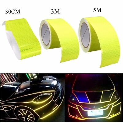 30CM/3M/5M Car Reflective Safety Warning Conspicuity Tape Roll Film Sticker US