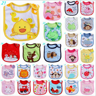Newborn Cute Baby Kids Infant Animal Waterproof Saliva Towel Baby Bib Lots