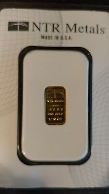 NTR Metals 1/10 ounce gold bar .9999 Made in USA